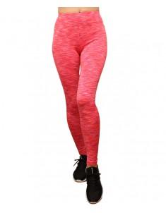 Лосины №002 для спорта розовый меланж. Размеры 42-48