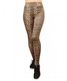 Лосины №002 для фитнеса эластик леопард. Размеры 42-48
