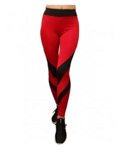 Лосины для фитнеса женские эластик черный красный модель 63 р. 42-48