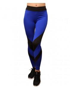 Лосины для фитнеса женские эластик черный синий модель 63 р. 42-48