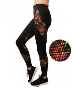 Лосины для фитнеса женские эластик черные с мозаикой модель 34 р. 42-48