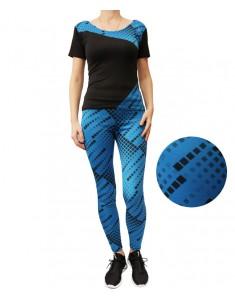 Комплект для фитнеса эластик синяя мозаика р. 42-48