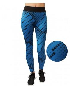 Лосины для фитнеса эластик синяя мозаика р. 42-48