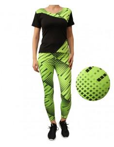 Комплект для фитнеса эластик зеленая мозаика р. 42-48