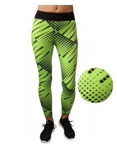 Лосины для фитнеса эластик зеленая мозаика р. 42-48