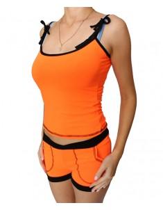 """Комплект """"Майка-шорты"""" оранжевый. Размер 44"""