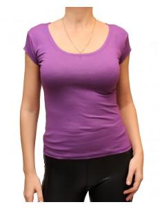 Футболка женская однотонная фиолетовая. Размер: 40-56