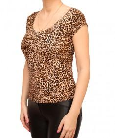 Футболка женская леопард. Размер: 40-56