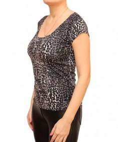 Футболка женская леопард серый. Размер: 40-56