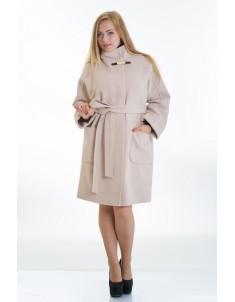Пальто модель №20 бежевое (осень/зима). Размер 46-54