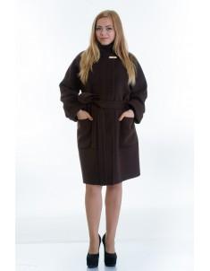 Пальто модель №20 шоколад (осень/зима). Размер 46-54