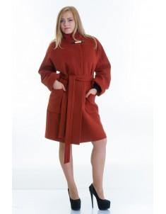 Пальто модель №20 рыжее (осень/зима). Размер 46-54