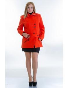 Пальто модель №40 оранжевое. Размер 44-54