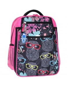 Рюкзак школьный Отличник 1-3 класс розовый совы