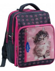 Рюкзак школьный модель Школьник 8 л серый котенок 65