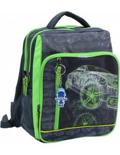 Рюкзак школьный модель Школьник серый машина 16