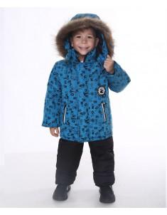 Зимний костюм Алфавит синий
