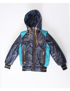 Куртка-жилетка на подростка темно-синяя. Размеры: 34-40