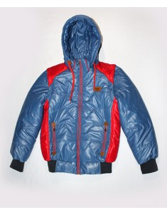 Куртка-жилетка на подростка синяя с красным. Размеры: 34-40