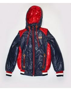 Куртка-жилетка на подростка темно-синяя с красным. Размеры: 34-40