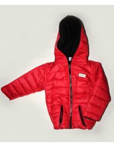 Куртка демисезонная Спорт флис красная