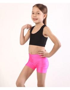 Шорты детские спортивные бифлекс розовые