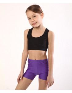 Шорты детские спортивные бифлекс фиолетовые