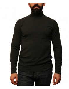 Гольф мужской флисовый черный